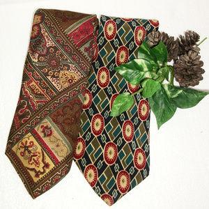 CHAPS & POLO by Ralph Lauren Set of 2 Silk Ties!